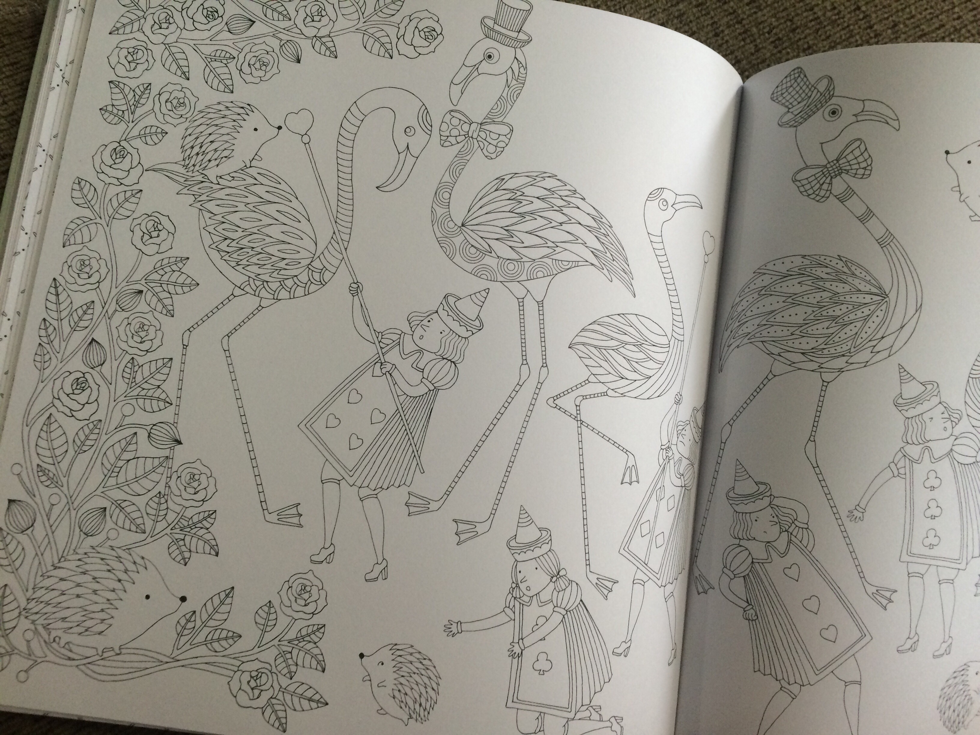 Wonderland A Coloring Book Inspired By Alices Adventures A